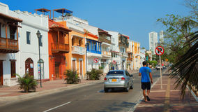 Activity in the downtown of the port city of Cartagena Royalty Free Stock Photos
