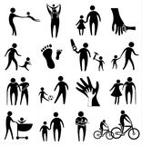Activity of father and child Stock Photos