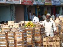 Activity in the fruit market during mango season Royalty Free Stock Image