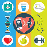 Activity healthy tracker Stock Images