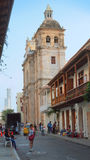 Activity in the historic center of the port city of Cartagena Royalty Free Stock Image