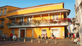 Activity in the historic center of the port city of Cartagena Stock Photo