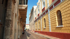 Activity in the historic center of the port city of Cartagena Stock Image