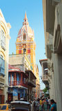 Activity in the historic center of the port city of Cartagena Royalty Free Stock Photo