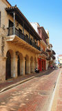 Activity in the historic center of the port city of Cartagena Stock Photography
