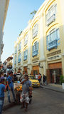Activity in the historic center of the port city of Cartagena Royalty Free Stock Images
