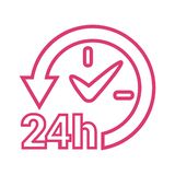 24 hours active icon royalty free illustration