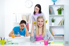 Activity at lesson Stock Images