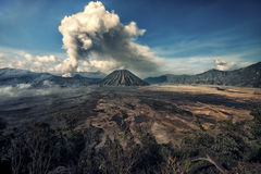Activity at Mount Bromo in the early morning Stock Photography