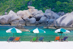 Activity of Nangyuan Island. Activity on the sea of Thailand royalty free stock images