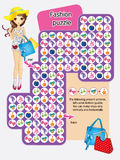 Activity Page Of Fashion Puzzle Royalty Free Stock Images