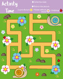 Activity page for kids. Educational game. Maze and counting game. Help dinosaurs meet. Fun for preschool years children Royalty Free Stock Photos