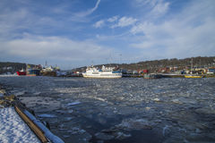 Activity at the port of Halden Royalty Free Stock Photos