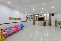 Activity room of christian jinbuli contact point Royalty Free Stock Photography