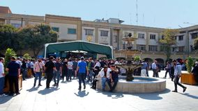 Activity at Sabzeh square stock footage