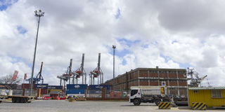 Activity in the seaport of Montevideo, Uruguay. Stock Photo