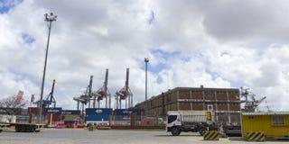 Activity in the seaport of Montevideo, Uruguay. Stock Photo