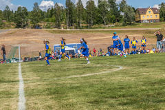 Activity on the soccer field Royalty Free Stock Images