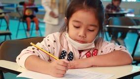 Activity of teaching kindergarten. Kindergarten students are learning stock footage