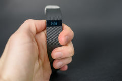 Activity tracker on hand Royalty Free Stock Image