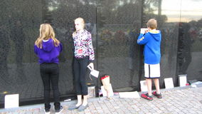 Activity at the Vietnam War Memorial Royalty Free Stock Photo