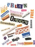 Activity Words Royalty Free Stock Images