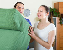 Activity young couple improvement at home Royalty Free Stock Image