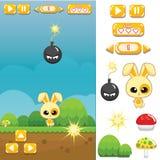 Activo del juego: Bunny Jump y funcionamiento foto de archivo libre de regalías