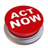 Acto ahora Botón rojo etiquetado libre illustration