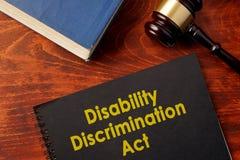 Acto DDA de la discriminación de la incapacidad imagen de archivo
