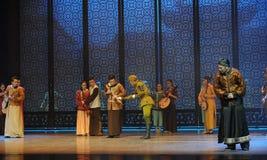 Acto de la curiosidad- de DA el Zuo japonés del ejército el tercer de los eventos del drama-Shawan de la danza del pasado Fotografía de archivo