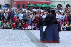 Acto de teatro de los jinetes Imagenes de archivo