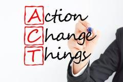 Acto para cambiar cosas en su futuro Imagen de archivo libre de regalías