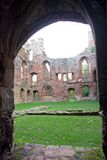 Acton Burnell Castle through Doorway. View of the west wall through the doorway, of Acton Brunell castle Shropshie England Royalty Free Stock Photo