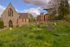 Acton Burnell Churchyard Stock Photography