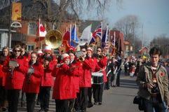 Acton Citizens band bij acton de Dag van de Herinnering Stock Foto