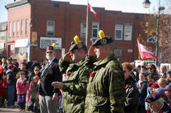 Acton Remembrance Day 2009 Royalty Free Stock Images