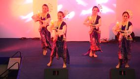 Actor and actress thai people dance dancing thai style for show stock video footage