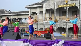Actor and actress thai people dance thai style show people on state stock video footage