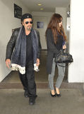 Actor Al Pacino and girlfriend at LAX Royalty Free Stock Photo