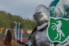 Actor as medieval knight Stock Photos