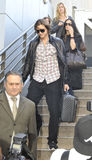 Actor Ashton Kutchner with wife Demi Moore at LAX Royalty Free Stock Image