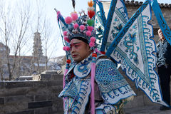 Actor of beijing opera in holiday ceremony Royalty Free Stock Photography