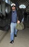 Actor Benicio Del Toro at LAX airport Stock Images