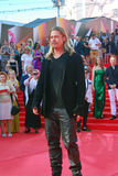Actor Brad Pitt at Moscow Film Festival Royalty Free Stock Photography