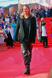 Actor Brad Pitt at Moscow Film Festival Stock Images