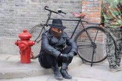 Actor chino de la película Foto de archivo