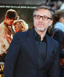 Actor Christoph Waltz. German actor Christoph Waltz arrives on the red carpet at the Ziegfeld Theater for the premiere of Water for Elephants, in Manhattan Stock Images