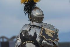 Actor como caballero medieval Fotografía de archivo libre de regalías