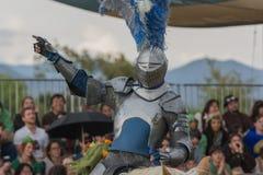 Actor como caballero medieval Imagen de archivo libre de regalías